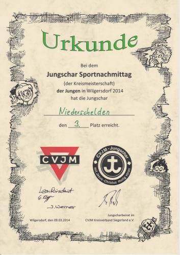16. Jungschar-Sportnachmittag 2014