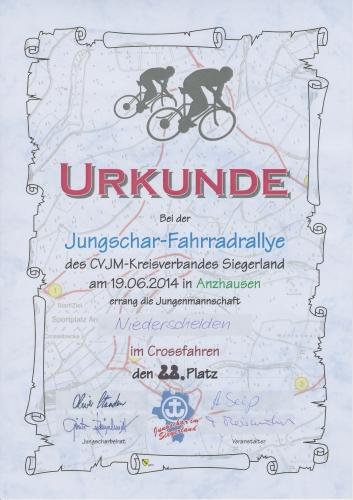 36. Jungschar-Fahrradrallye-Crosslauf 2014