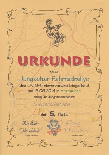 36. Jungschar-Fahrradrallye-Strecke 2014