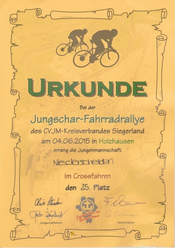 37. Jungschar-Fahrradrallye-Crosslauf 2015