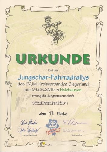 37. Jungschar-Fahrradrallye-Strecke 2015