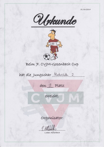 7. CVJM-Gosenbach Cup 2014 Team 2