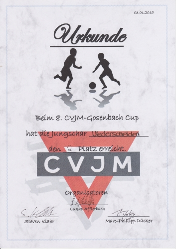 8. CVJM-Gosenbach Cup 2015